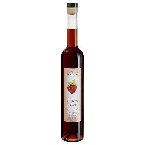 """Erdbeer-Likör """"Höllberg"""" 30% vol., (1 x 0.5 Liter) fruchtiger Likör ohne Aromastoffe"""