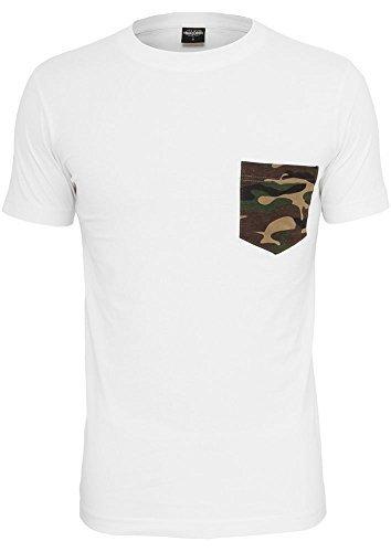 Urban Classics Herren T-Shirt Rundhals white/camouflage M (Camouflage Urban T-shirt)