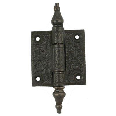 Curio China Schrank (h-50ci Viktorianischer Gusseisen Scharnier-5,1cm hoch x 5,1cm breit-2pc/Pack + Gratis Bonus (Skelett Schlüssel Badge))