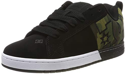 DC Shoes (DCSHI) Court Graffik-Shoes for Men, Scarpe da Skateboard Uomo, Black/Camo, 44 EU