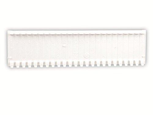 Abdeckstreifen, 12 Einheiten, weiß (Verteiler Abdeckung)