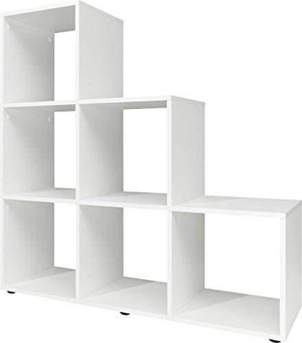 CSSchmal Stufenregal, Holz, weiß, 32 x 105 x 106 cm