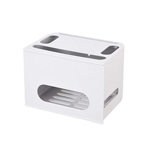 wxrsxx Aufbewahrungsbox Double Layers Drawer Type WiFi Router Aufbewahrungsbox Wire Board Aufbewahrungsschutz Shell Cable Organization Bin