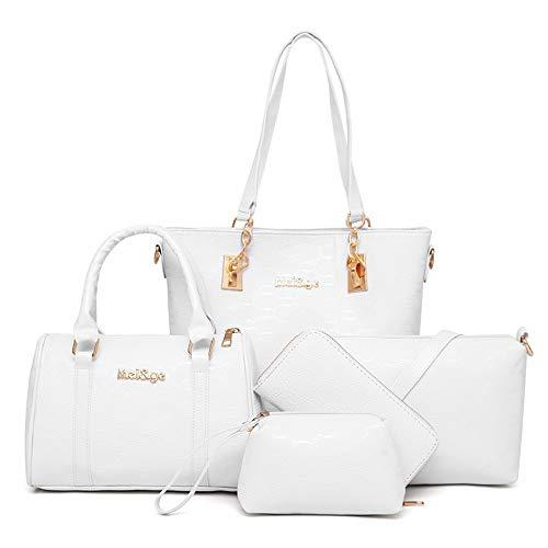 er Tasche mit fünf Gruppen einheitliche umhängetasche mit schrägen Wind geprägt sind grenzüberschreitend Tasche,weiße ()