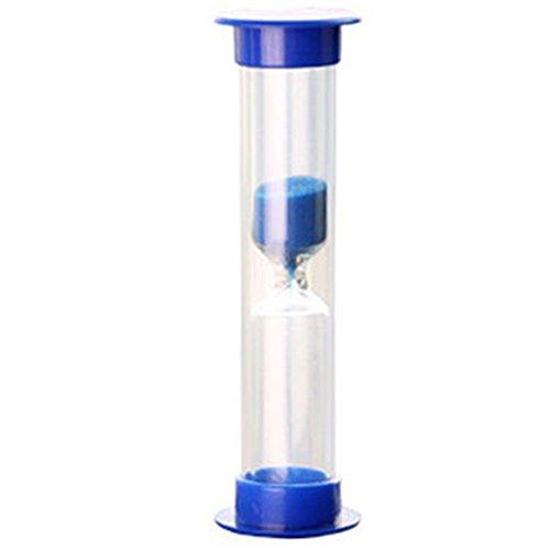 NANAD Sanduhr, Bunte Sanduhr Sanduhr 2/3/5/10 Minuten Mini Sanduhr Glas Timer für Kinder Klassenzimmer, Küche, Spiele, Bürsten-Timer, Home Office, blau, 10 Minutes