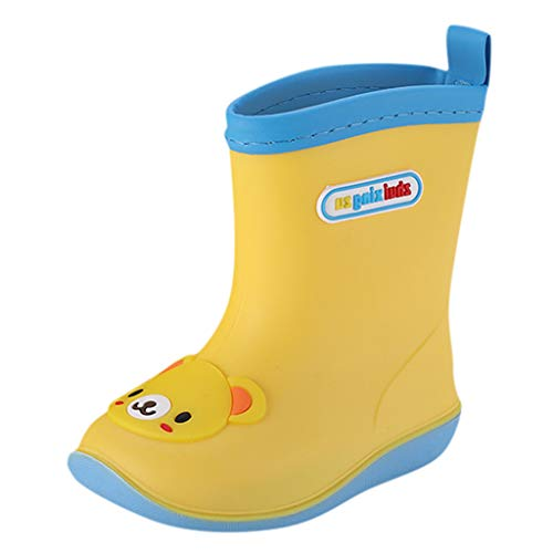 BaojunHT Character Kids Wellies Waterproof Rain Boots Durable Comfort Wellington Snow Shoes for Boys Girls Outdoor Walking