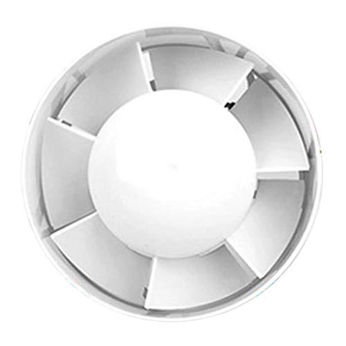 H HILABEE 220V Rohrventilator Kanalventilator Φ 95 mm Inline-Gebläse Ventilator für Büro Keller Küche Badzimmer