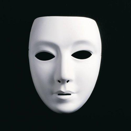 Festartikel Müller weiße Maske weibliches Gesicht zu Karneval Fasching Halloween