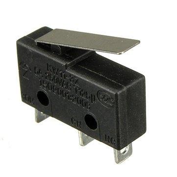 10 stücke 5A 250 V 3 Pin Taktschalter Empfindliche Mikroschalter Mikroschalter Griff KW11-3Z - Mikroschalter Endschalter