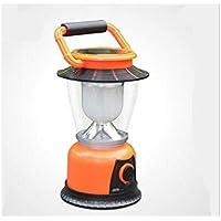 YHJNBGH - Farol de energía Solar multifunción para Acampada (LED, luz de Emergencia, Recargable, USB), Color Naranja, Color Naranja, tamaño 19.7X8.7cm