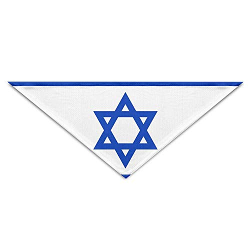 Kostüm Israel - BigHappyShop Flag of Israel Pet Scarf Dog Neckerchief Puppy Triangle Triangle Bibs Scarfs for Pet Dogs