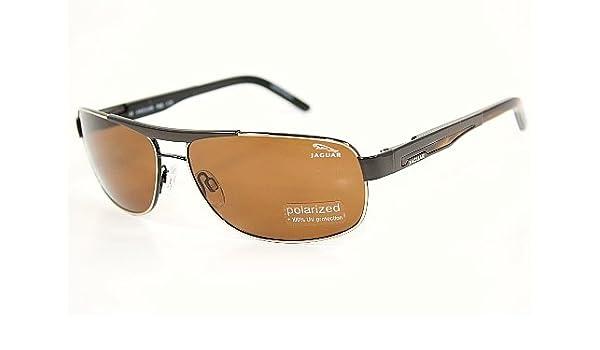 b540143634 Jaguar 37316 Sunglasses 37316 Brown Gold 340 Polarized Shades   Amazon.co.uk  Clothing