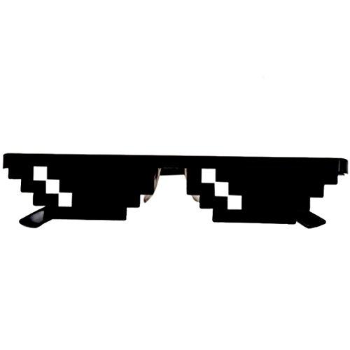Letter Thug Life Glasses 8 bit Pixel Deal avec lunettes de soleil IT Unisex Sunglasses Toy