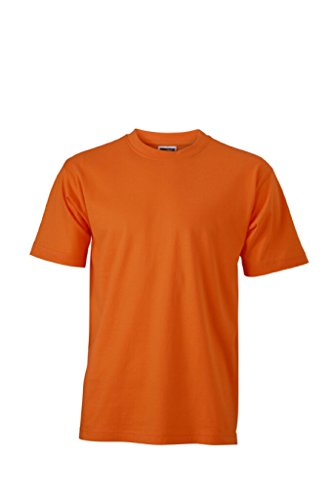 JAMES & NICHOLSON T-Shirt aus Single-Jersey Orange