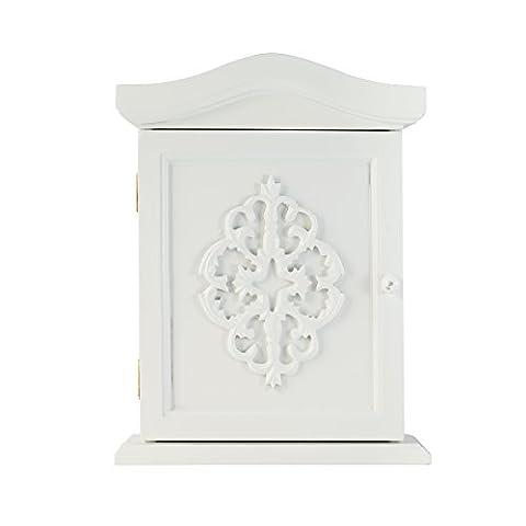 Armoire Murale Bois - elbmoebel Armoire à clés avec ornements et