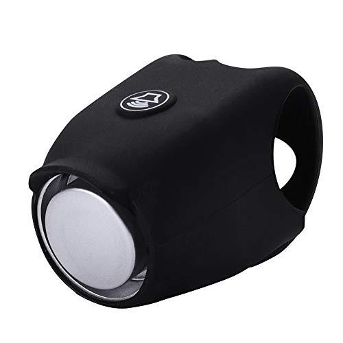 Alomejor Timbre de Bicicleta Timbre y Anillo de Ciclismo Negro Adecuado para Ciclismo al Aire Libre Uso para Sonido Seguro Accesorios de Bell de Bicicleta(Black)