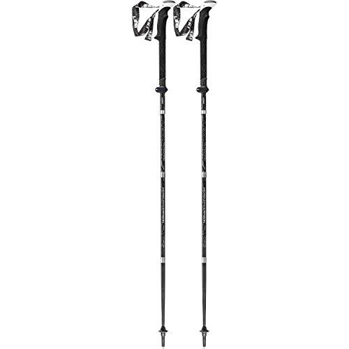 LEKI Micro Vario Carbon Strong Trekking Stock, Black/Anthracite/White/Silver, One Size
