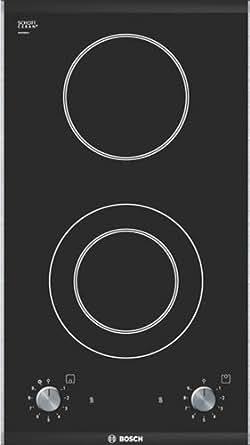 Bosch PKF 375V14E Table de Cuisson Vitrocéramique 30 cm Noir et Inox