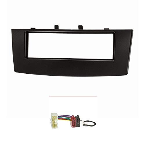 tomzz Audio ® 2437-008 Radioblende (Set) für Mitsubishi Colt CZ3 Facelift ab 2009, schwarz