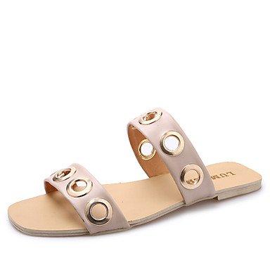 Donne'spantofole & flip-flops Estate Mary Jane Casual in similpelle tacco piatto metallico a piedi di punta US8 / EU39 / UK6 / CN39
