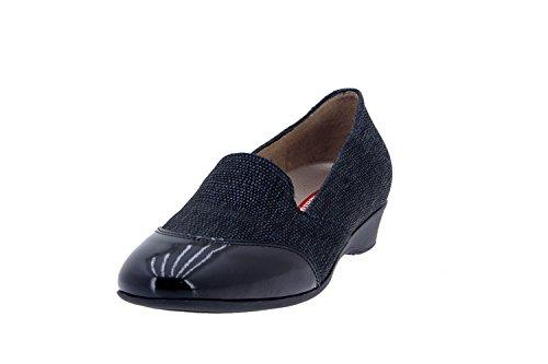 Chaussure femme confort en cuir Piesanto 7730 casual comfortables amples Noir