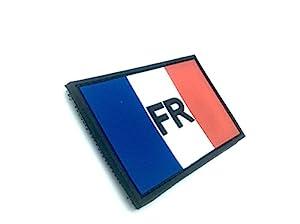 France Drapeau Tricolore Français FR Airsoft Velcro PVC Patch