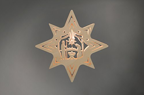 """Fensterbild/Fensterbeleuchtung Stern \""""Christi Geburt\"""" natur"""