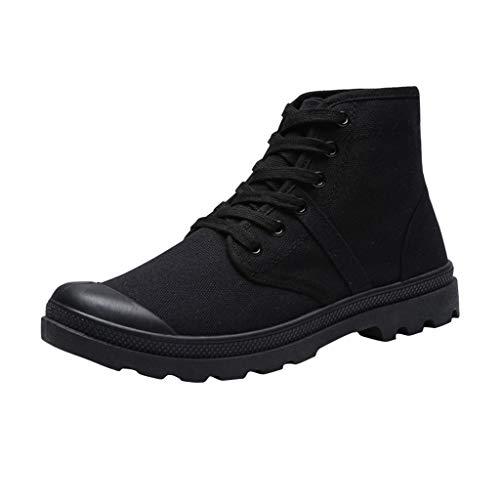 Sneaker da Uomo Scarpe da Ginnastica Alte a metà da Uomo Cravatta da Uomo ad Alta Banda con Scarpe di Tela Studenti Classiche Scarpe da Arrampicata Antiscivolo Sneakers Scarpe da Trekking