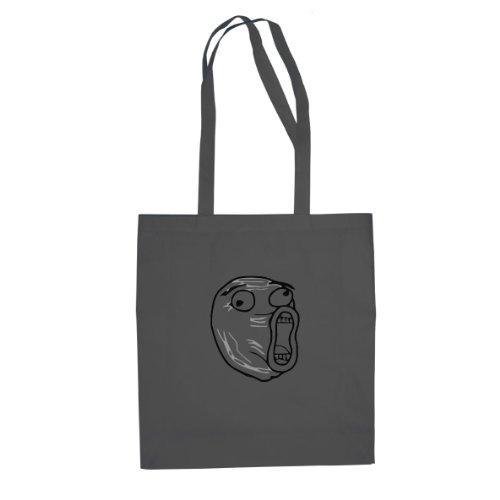 Guy Kostüm Nerd - Planet Nerd LOL Face - Stofftasche/Beutel, Farbe: grau