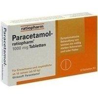 Ratiopharm Paracetamol-ratiopharm 1000 mg Tabletten, 10 St.