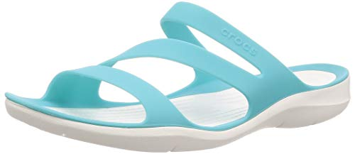 Crocs Damen Swiftwater Women Sandalen, Blau (Pool/White 4dy), 42/43 EU