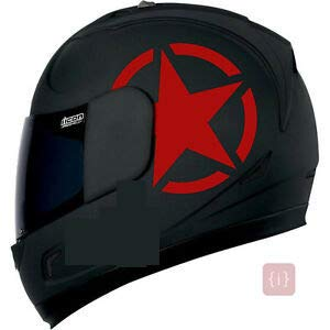 ISEE 360® Yamaha Stickers for Bike Helmet R15 V3 Half Star Red Decals L x H 11 x 11 Cms