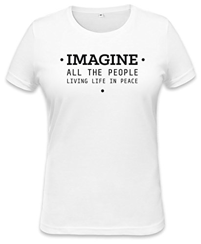 John Lennon Imagine Womens T-shirt Medium