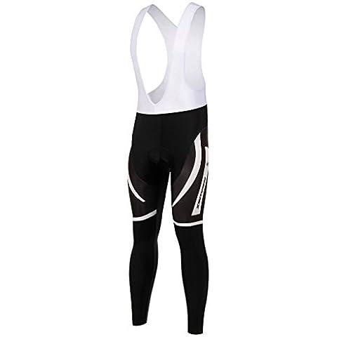 Spoz Men Cycling White Suspender Sportwear Bid Padded Pansts XL