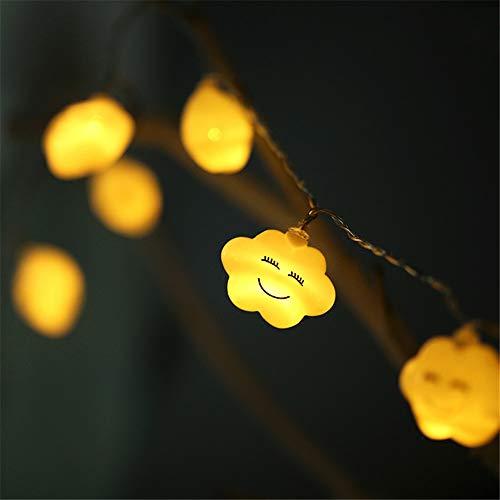 Fata Led Sorriso Bianco Nuvola Accatastati Luci Stringa Decorazione Ghirlanda Di Natale Capodanno Nuvola Crepa 3Meter20 Luci (Usb)