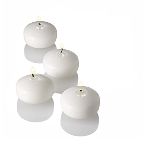 Floating Candles 4cm 2.5hr 4/Pk - White (Ideal for Marraige, Party, Decoration, Church, Function or any
