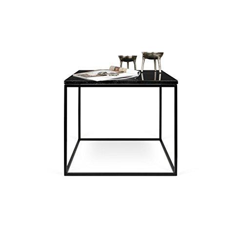 Paris Prix - Temahome - Table Basse Gleam 50cm Marbre Noir & Métal Noir