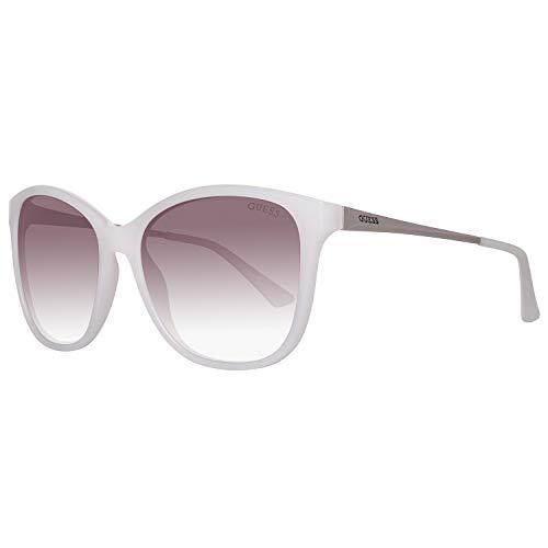 Guess Damen GU7502-5721F Sonnenbrille, Weiß (White), 57