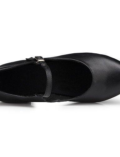 ShangYi Chaussures de danse (Noir) - Non personnalisable - Talon bas - Flocage - Moderne Black