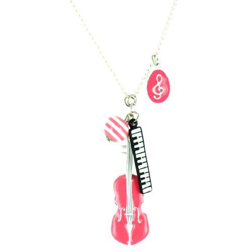 Ilovefj - Collana da donna, modello Music Lover, colore: rosa
