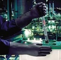 Ringelblume Industrie g17K Heavy Duty Starke schwarz Schwergewicht chemischen Schutz Handschuhe Paar, 6.5 S - Ass Latex