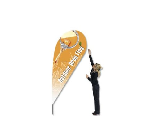 Fahnenmast Outdoor Flag Drop 117x282cm Bannerdisplay Display Banner Fahne 4482