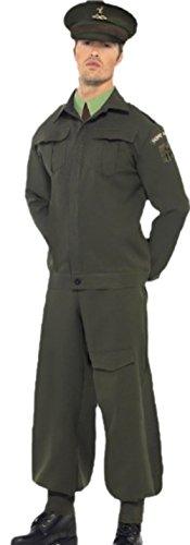 erdbeerloft - Herren Historisches Home Guard Wächter Karnevalskostüm mit Hut , M, (Herren Kostüme Guard)