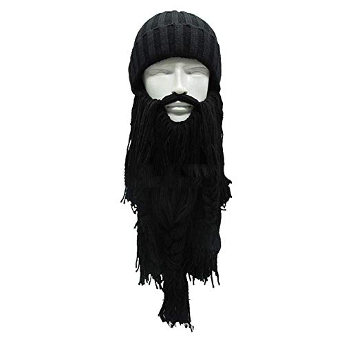 Xiao-masken Männer Frauen Handgemachte Strick Barbarian Viking Beanie Bart Horn Hut Winter Warme Mütze Cool Lustige Gag Halloween Party Weihnachten Karneval Cosplay Party