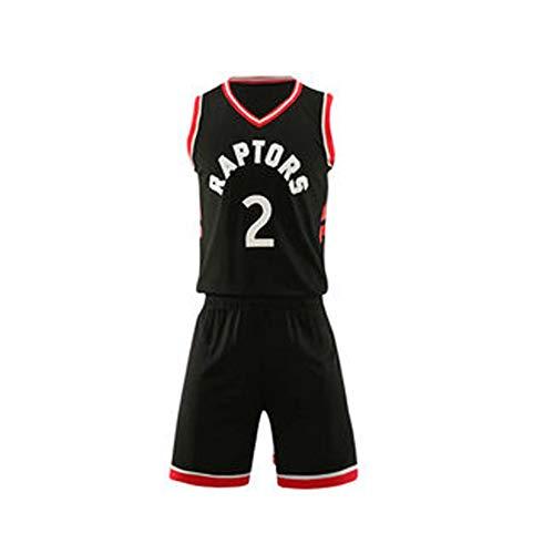 Basketball Jersey Herren, Kawhi Leonard # 2, Toronto Raptors Männliche Basketballuniform-Black-XS -