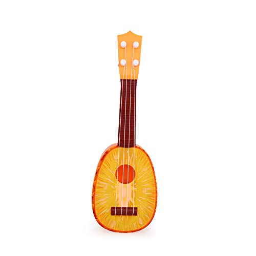 Xinzhi Ukulele Spielzeug, Obst Ukulele Obst Gitarre 4 Saiten Instrument Spielzeug Farbe Boxed Abs Uke Spielzeug Geeignet Für Musik Früherziehung - # 5, Ananas -