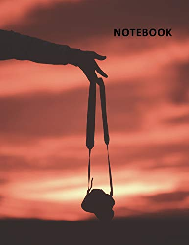 College Ruled Notebook: Silhouette photography Elegant Student Composition Book Daily Journal Diary Notepad for professional photographers Las Vegas