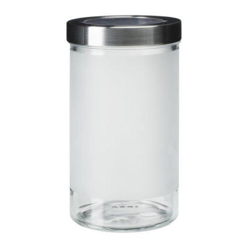 Ikea – Barattolo Droppar in 5 misure, acciaio inox e vetro, 0,9 l ...