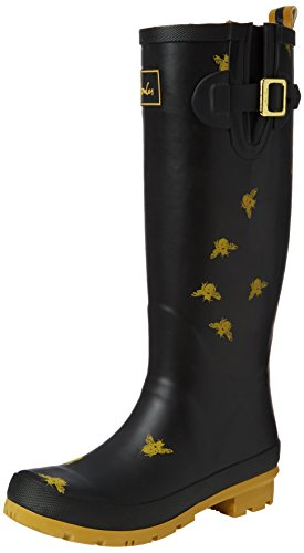 Joules U_Wellyprint, Women's Wellington Boots, Black (Blckbee), 7 UK (40/41 EU)