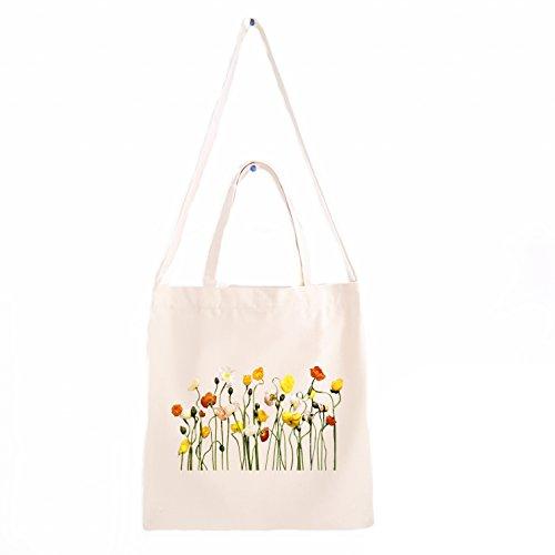Künstlerische Blumenarrangement Canvas Tasche, Canvas Shopper Tasche